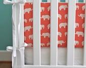 ORGANIC crib bumper (choose your fabric)