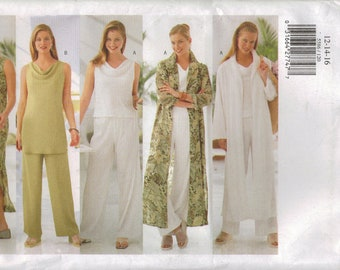 Butterick Sewing Pattern 5586 - Misses' Duster, Dress, Top, Tunic & Pants (6-10, 12-16)