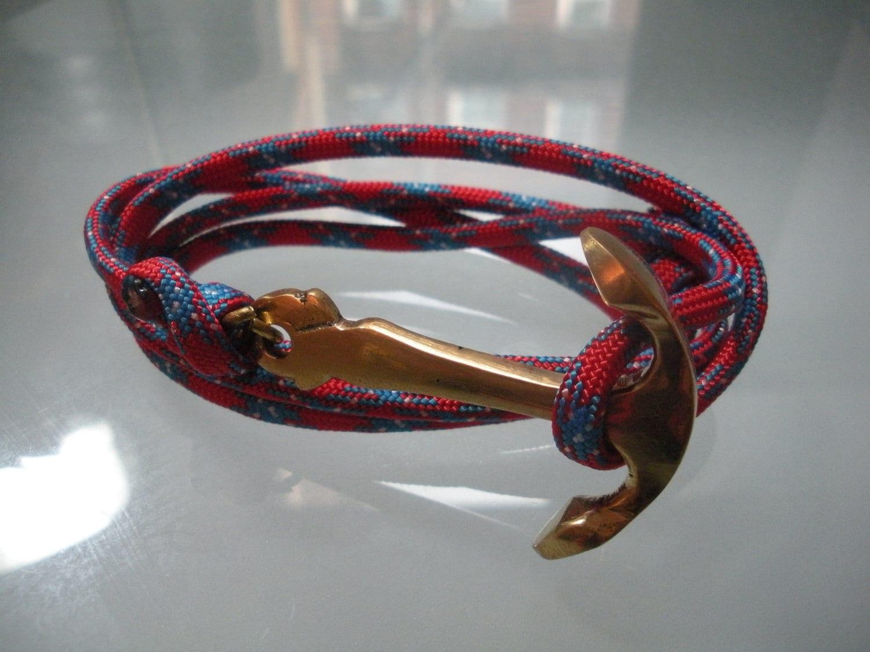 Men S Anchor Bracelet By Kikiandcoco On Etsy