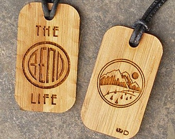 Bend Oregon.  Mt Bachelor Dog Tag for those who love The Bend Life!