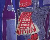 Vintage Vera Tea Towel- Picnic Scene