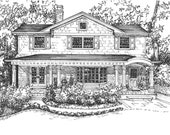 House Rendering - hand drawn in ink home - custom home portrait