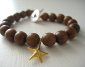 Starfish Bracelet Wood Bead