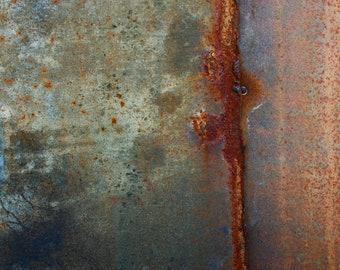 Abstract Fine Art Photography Industrial Rust Orange Grey - Flatfish 8x10