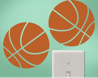 5 Basketball Mini Decals, Vinyl Wall Decals, Car Decals Stickers, Laptop Decals Stickers, Locker Decals Stickers, Notebook Decals