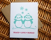 Panda Christmas Card/Panda Holiday Card