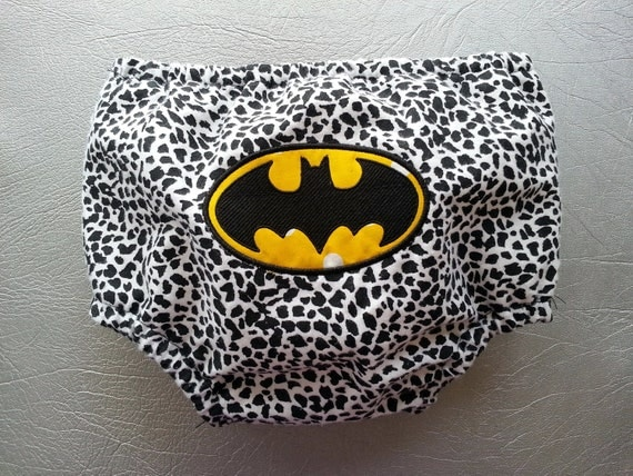 Batman Embroidered Diaper Cover Geeky Superhero