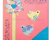Children's Art, Nursery Art, Kids Decor, Nursery Wall Art, Birds, Fanciful Flight Print
