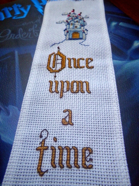 Bookmark Fairytale Castle Once Upon A Time Unique Completed Cross Stitch Fantasy Story