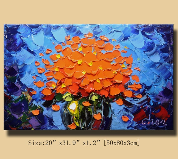 Original Abstract Painting, Modern Textured Painting,  Palette Knife, Home Decor, Painting Oil on Canvas  by Chen 0124