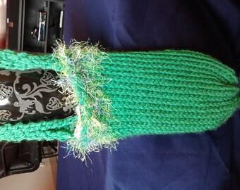 Knit Purse Bright Green Knit Purse