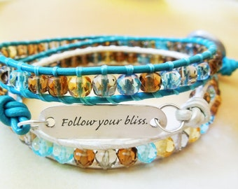 Follow your Bliss - Wrap Bracelet