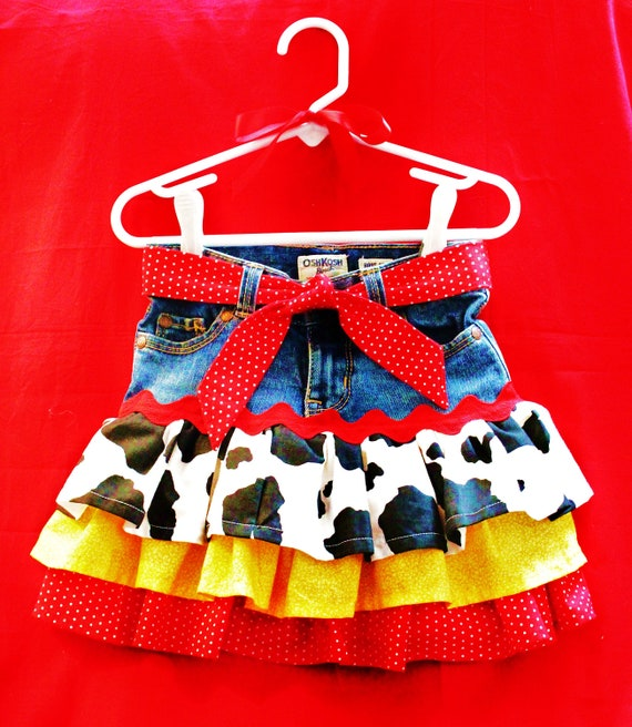 RESERVED LISTING for SmFlores3--Size 4t Ready to Ship Jessie the Cowgirl Twirly Skirt Inspired by Disney's Toy Story