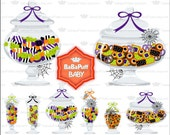 Halloween Candy and Cookie Jars Clip Art ---- Personal and Small Commercial Use ---- AA 0229