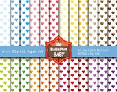 Buy 2 Get 2 Free ---- Hearts Digital Papers ---- Personal and Small Commercial Use ---- BB 0234