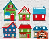 Buy 2 Get 2 Free ---- Christmas Houses ---- Personal and Small Commercial Use ---- BB 0286