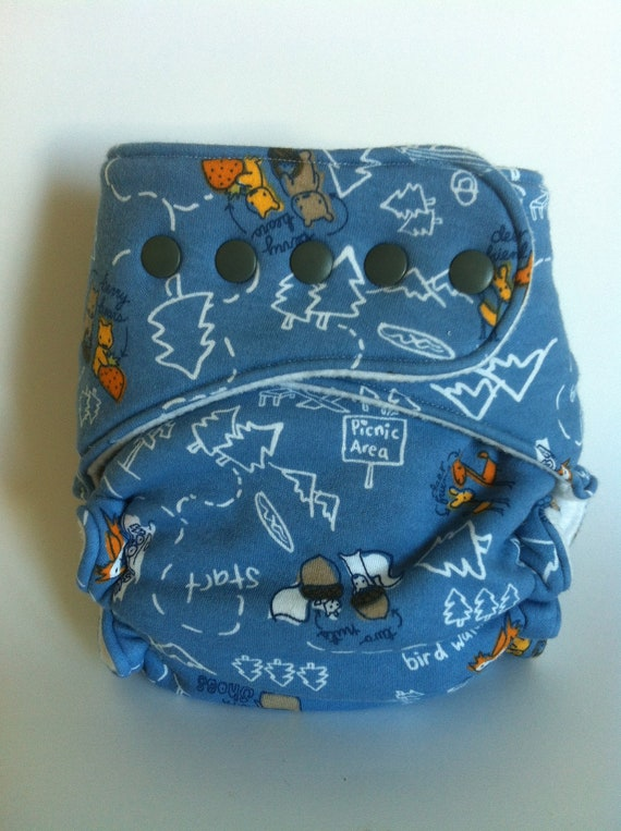 Moose in Shoes Fitted Cloth Diaper