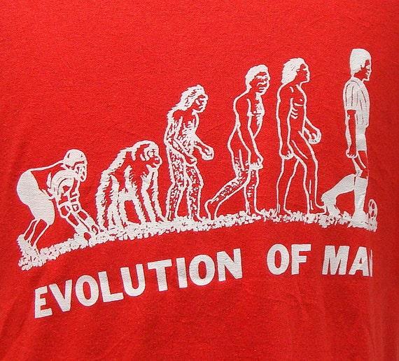 Vintage 80's Evolution Of Man t shirt XL
