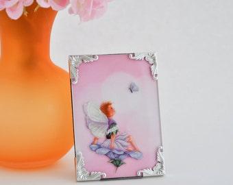 Framed Fairy, Mixed Media Art, Faerie, Fantasy Artwork, Gift Under 10