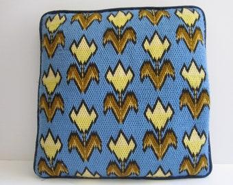 1970's Needlepoint Pillow