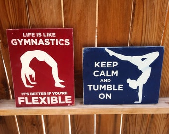 8x12 Gymnastic Sign