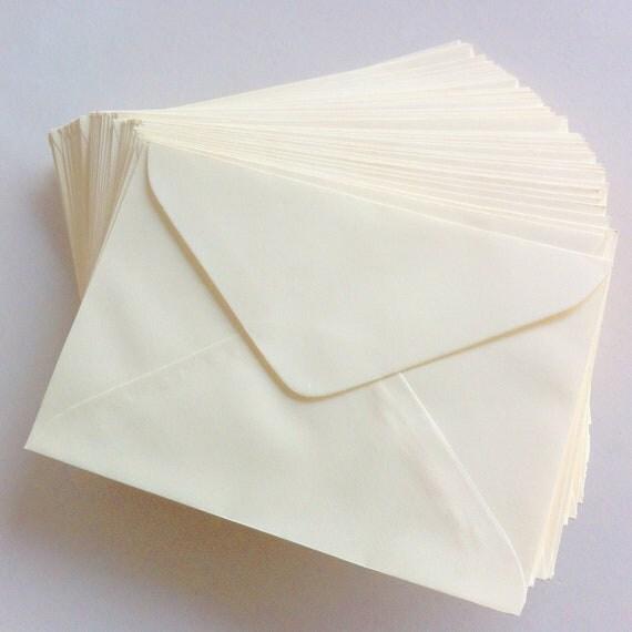 Set of 25 - A6 Cream Colored Envelopes