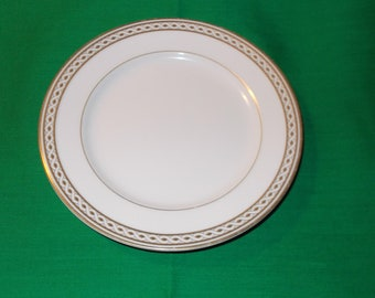 """Two (2), 6 1/2"""" Fine China, Bread & Butter Plates, from Wedgwood, in the Embassy Collection, Granville Pattern."""