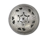 2 Star Shield 7/8 inch ( 22 mm ) Metal Buttons Antique Silver Color