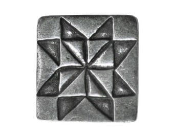 Danforth Sawtooth Star 5/8 inch ( 16 mm ) Pewter Metal Button