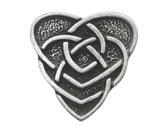 2 Celtic Motherhood Knot 3/4 inch ( 19 mm ) Pewter Metal Buttons