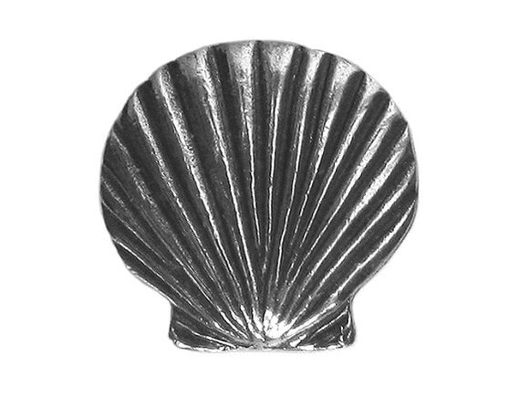 Danforth Scallop Shell 3/4 inch ( 18 mm ) Pewter Metal Button Silver Color