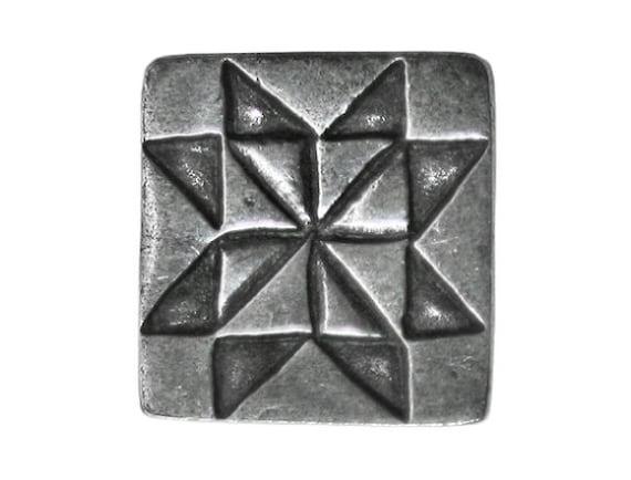 Danforth Sawtooth Star 5/8 inch ( 16 mm ) Pewter Metal Button