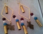 Patriotic Earrings made with .22 Caliber casings (4 to choose from)