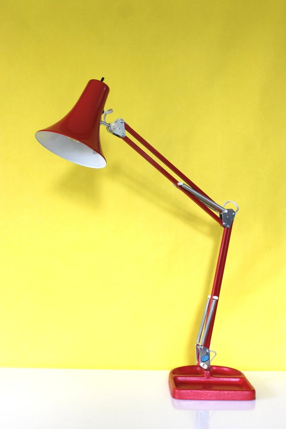 Red Adjustable Architect Lamp