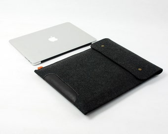 "Felt Bag Case Sleeve 11"" 13'' Macbook Retina Pro Macbook Air New Cover Shell 15'' Macbook  Pro Laptop Cover Custom E435"