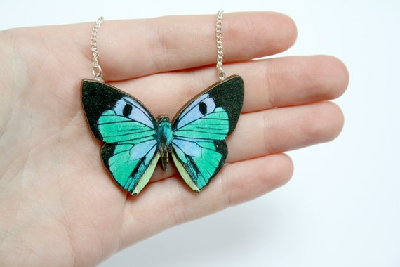 Butterfly Wooden Necklace