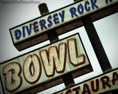 "Chicago Vintage Sign Photography Print ""Bowl"" 8x10 photo"