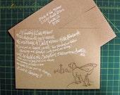 Custom, Hand-Drawn, Silkscreen and Letterpress Wedding Invitations