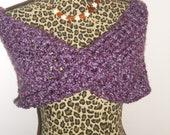 soft purple vintage crossover mobius wrap