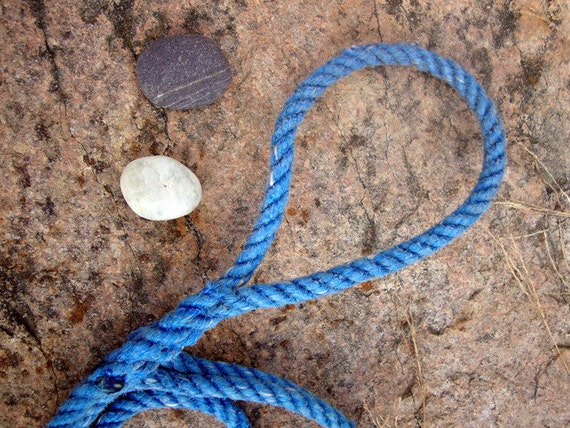 Handmade Salvaged Fishing Rope Dog Leash (2 Dollars Donated)
