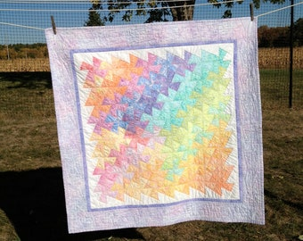 Rainbow Windmills Baby Quilt