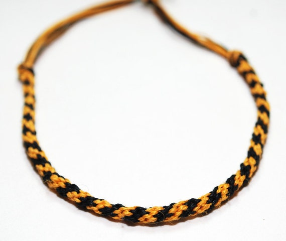 Hemp Mens Bracelet Kumihimo Personalized Eco Friendly Color Customize Halloween Jewelry