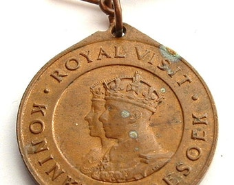 King George VI And Queen Elizabeth Royal Medal Visit South Africa In 1947