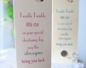 Silver Sixpence Christening Card