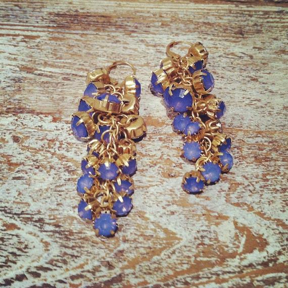 Vintage Inspired Chandelier Rhinestone Earrings