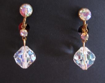AB Crystal Double Drop Earrings