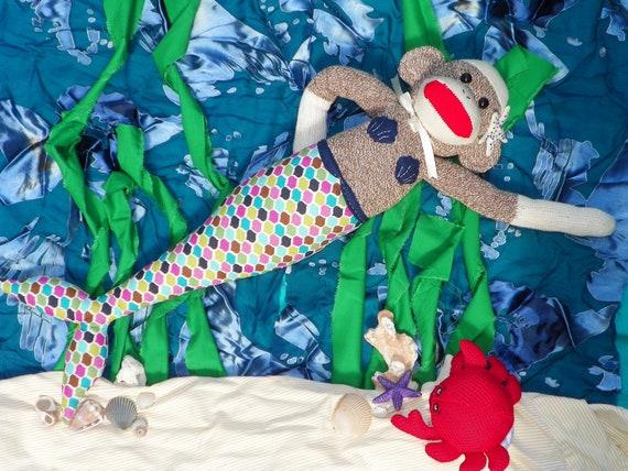 Lera the Mermaid Sock Monkey