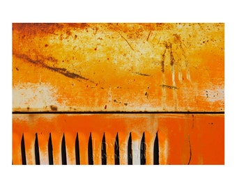Rusty Truck Photo, Orange Gold Rust, Autumn Colors, Abstract Photography, Old Pickup Truck, Gift for Men, Santa Fe
