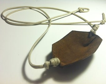 Paracord and Leather Cupped Pouch Shepherd Sling HANDMADE by David the Shepherd - David & Goliath