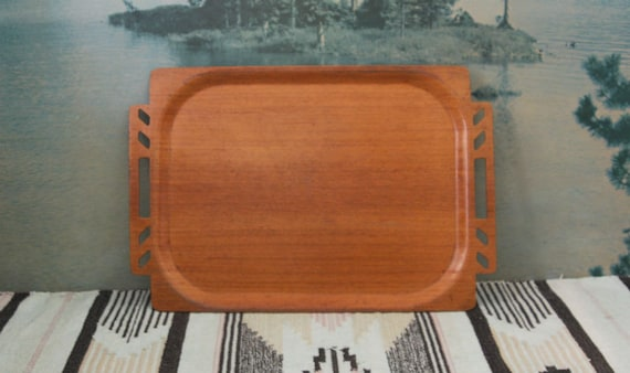 Mid Centruy Bentwood Serving Tray